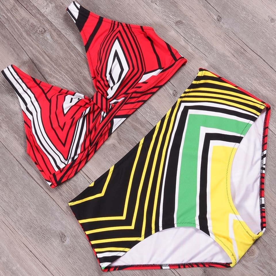 NAKIAEOI Bikini 2019 Newest Padded Bikini Set Women Swimwear High Waisted Swimsuit Swimwear Bathing Suit Biquini Plus Size 4XL
