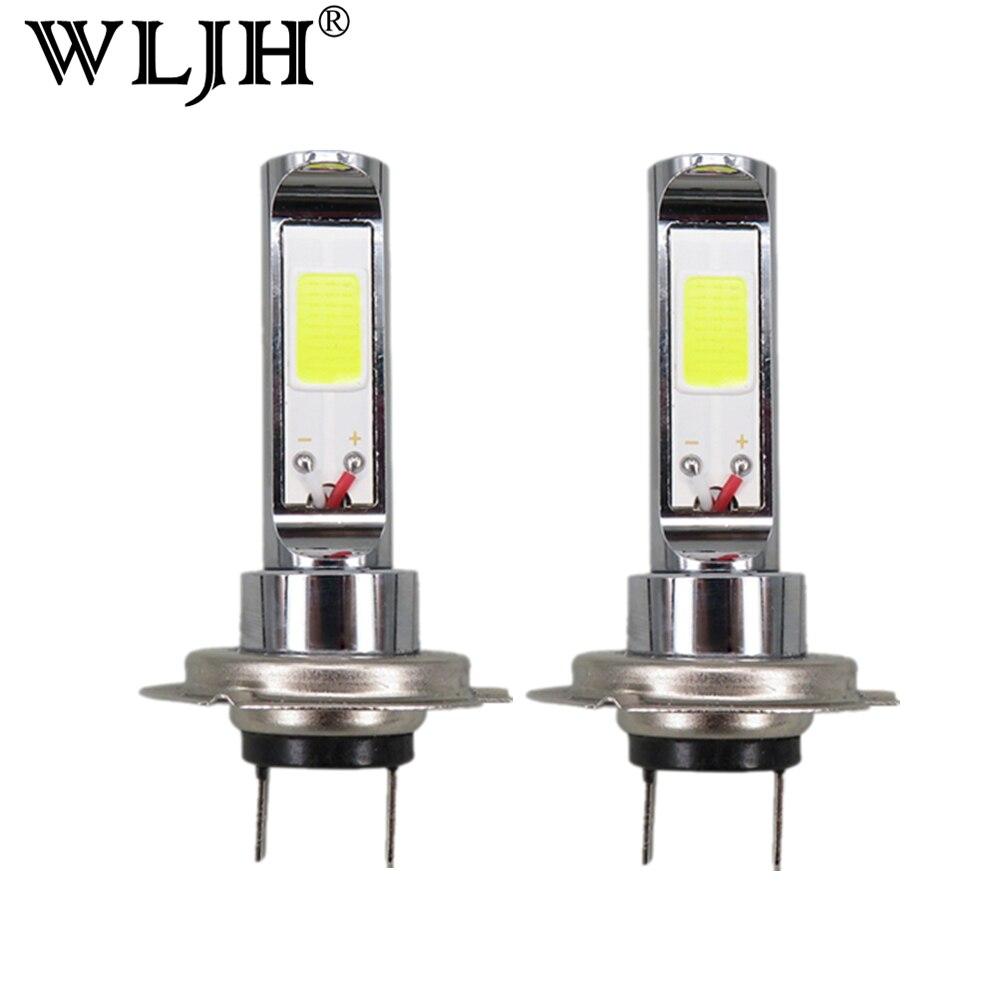 Wljh 2x <font><b>LED</b></font> H7 Свет Лампы CREE чип УДАРА 18 Вт H7 Фары для автомобиля Туман дальнего света лампы дневного автомобиля DRL для KIA для Honda для Ford
