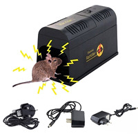 Behogar Electric Shock Mouse Mice Rat Rodent Trap Cage Killer Zapper Trapper Repeller For Serious Pest Control US/EU/UK Plug