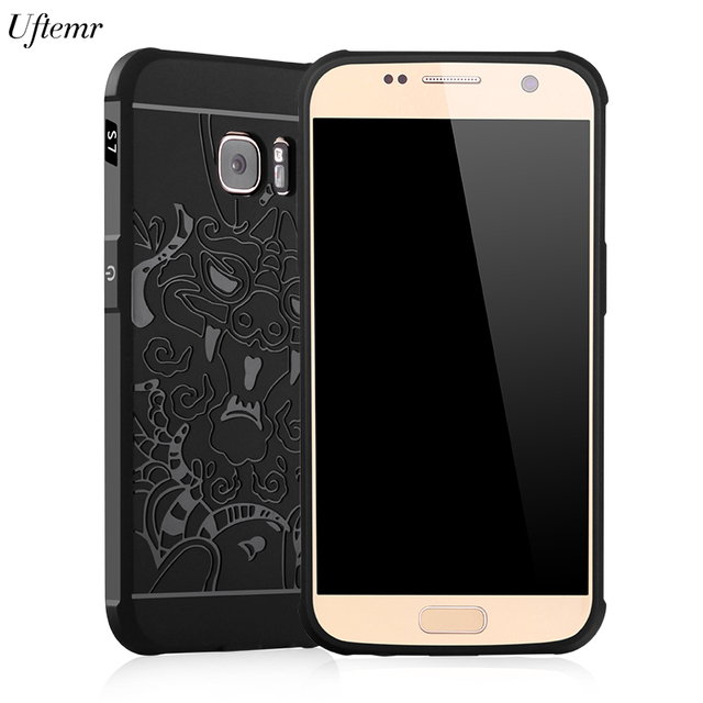 Uftemr Ultra-thin Soft Silicone 3D protective back case For Samsung Galaxy S7 Edge SM-G935F phone case for galaxy s7 capa fundas