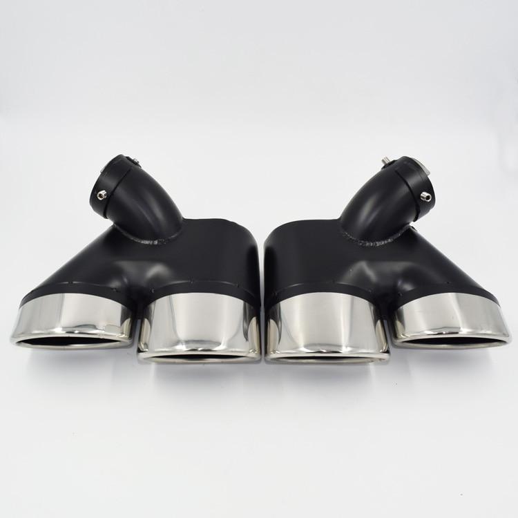 Car-styling! W211 Rear Exhaust Tips Muffler Pipe For Mercedes Benz W211 E-Class E200 E260 E240 E280 E300 E350 rambach mercedes benz e 220 cdi w211 136 л с