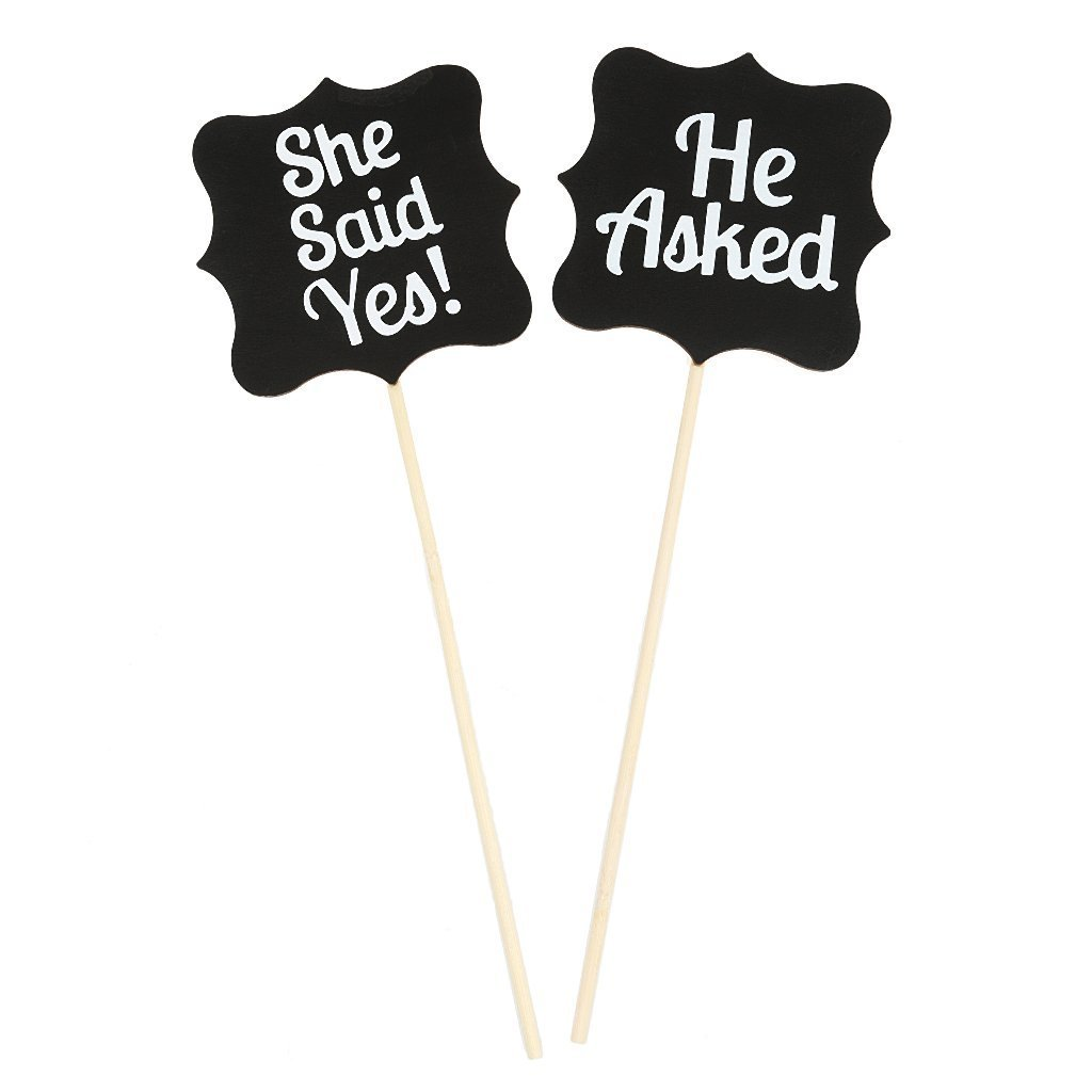 Wood Wedding Gift She Said Yes Sign Accessories Party Gifts