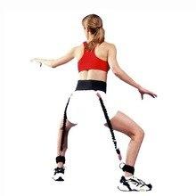 バスケットボールトレーナー跳躍トレーニングプルバンドセットバウンストレーナーストラップバスケットボール跳躍トレーニングツールのための大人と子