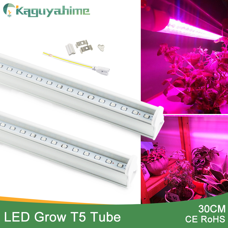 Kaguyahime Phyto Led Grow Light Full Spectrum T5 Tube 30cm 2835SMD AC 110V 220V Plant Lamp Growth Hydroponic LED Grow Lamp