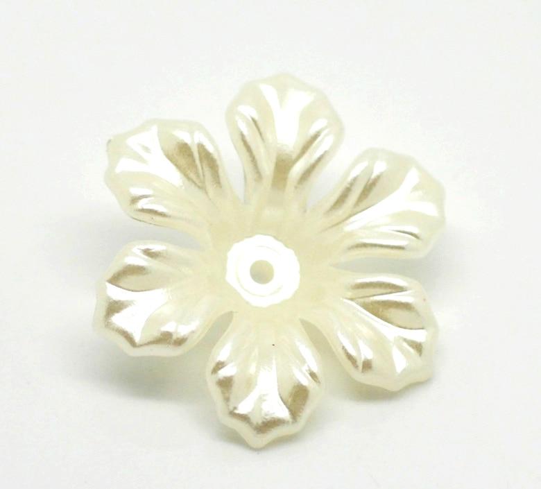 Акриловые разделительные бусины цветок бежевый около мм 26 мм (1 «) мм x 26 мм шт. (1»), отверстие: около мм 1 мм, 10 шт. Новый