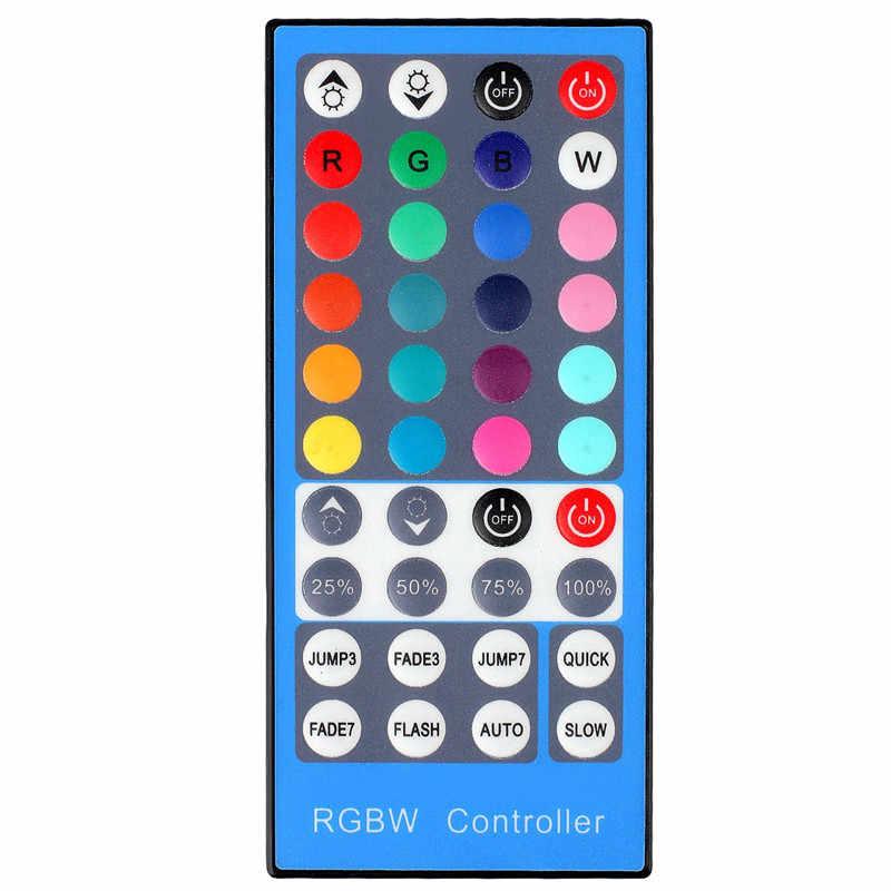 Conntroller 40Key taśmy RGBW/RGBWW SMD 5050 LED pasek światła DC 12 V 24 V 6A IR pilot na podczerwień ściemniacz 20 kolorów