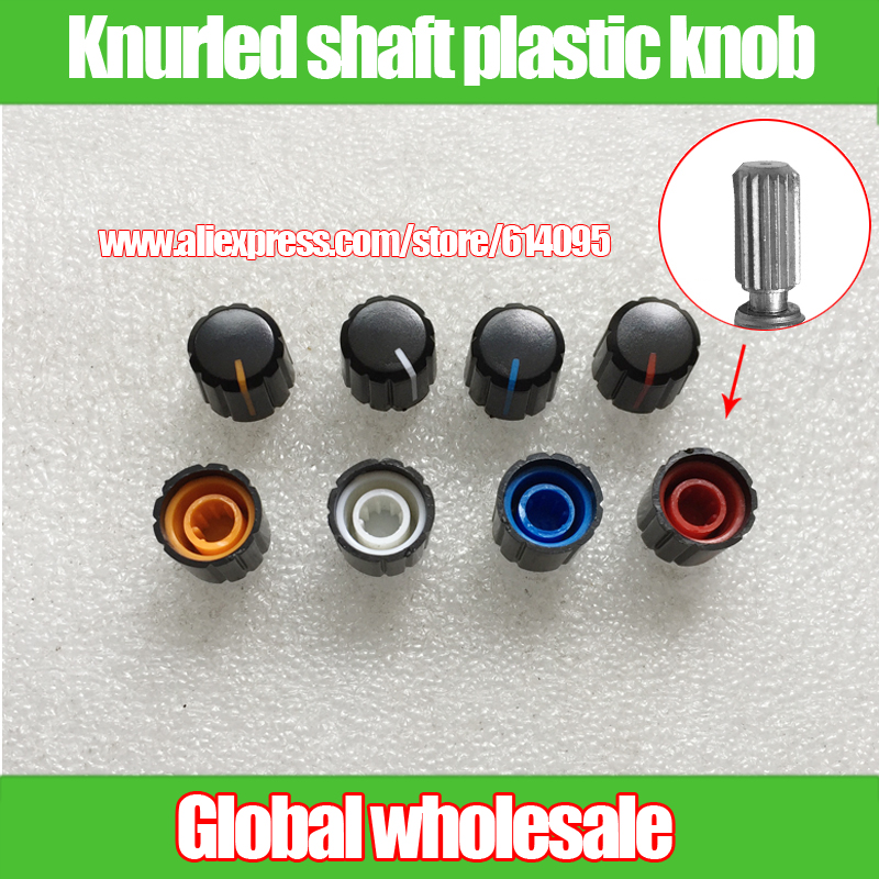 60pcs Rotary Potentiometer Plastic Knob Cap Mixer Console Volume Audio Switch Knob Knurling Shaft Flower Shaft 6mm 13*15mm Preventing Hairs From Graying And Helpful To Retain Complexion