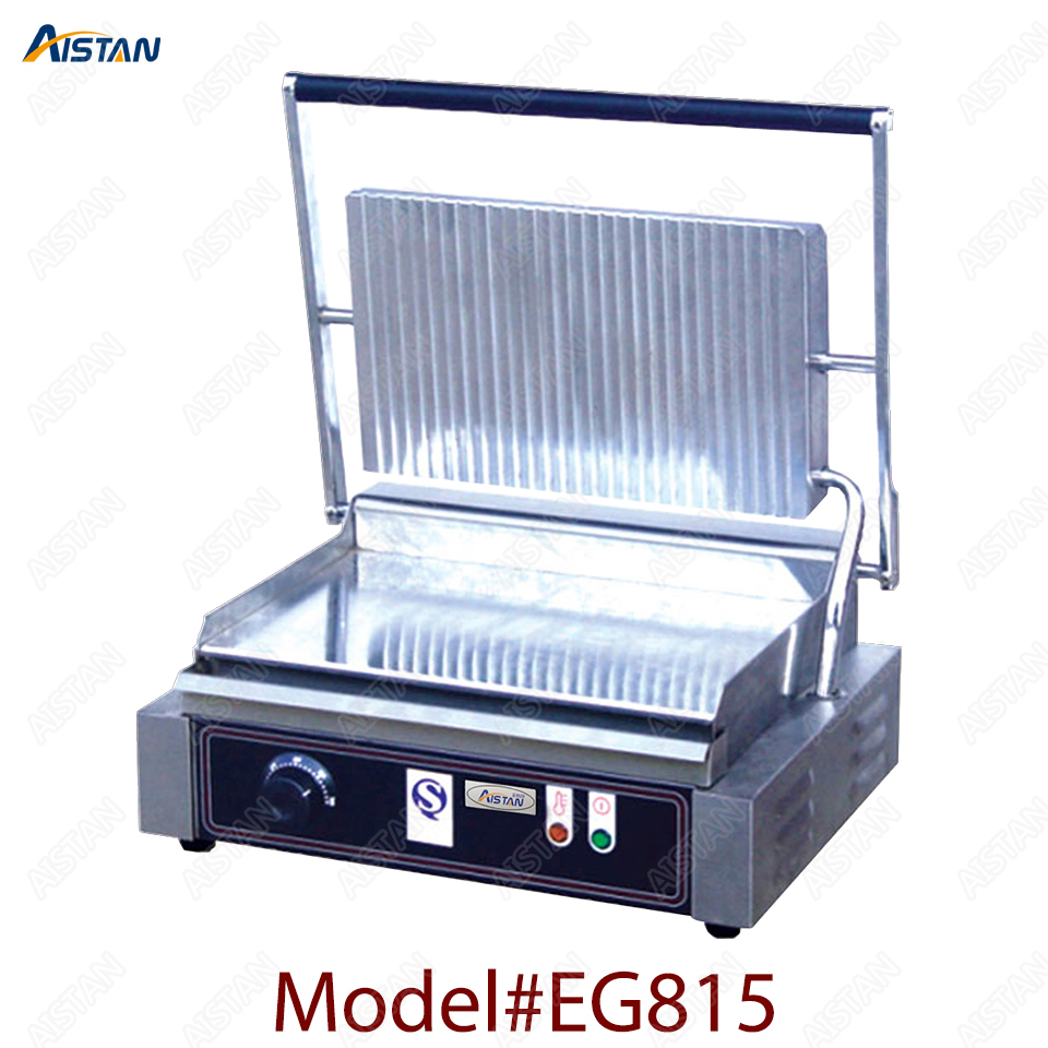 EG811/EG813/EG815 Single/Double Plate Commercial Electric Table Top Panini Grill Machine of Catering Equipment 3