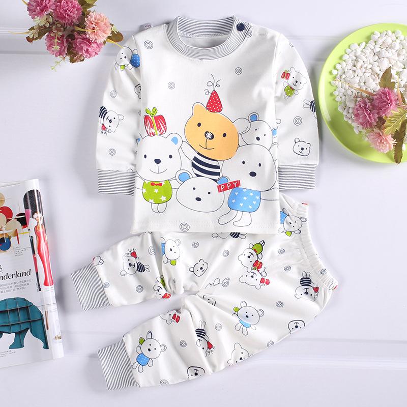 HTB1PHvPagZC2uNjSZFnq6yxZpXa7 - Children Clothes 2017 Winter baby Girls boys Clothes Set cottot T-shirt+Pants newborn suit Kids Girl Clothing Set
