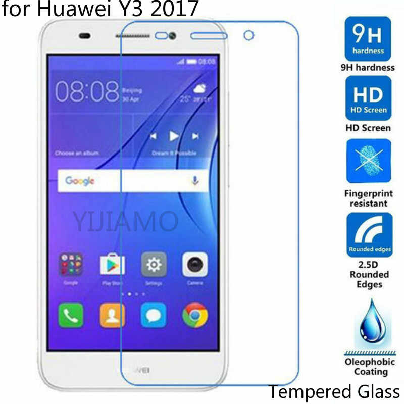 Tempered Glass For Huawei Y3 2017 Y3 3 III CRO L02 CRO-L03 Screen Protector For Huawei Y 3 2017 CRO-L23 CRO-U00 Glass on Y3III 3