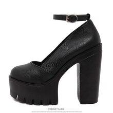 2017 New Gladiator Summer Fashion High Heels Platform Sandals Women Casual Ladies Shoes Black White High Heel Women Pumps