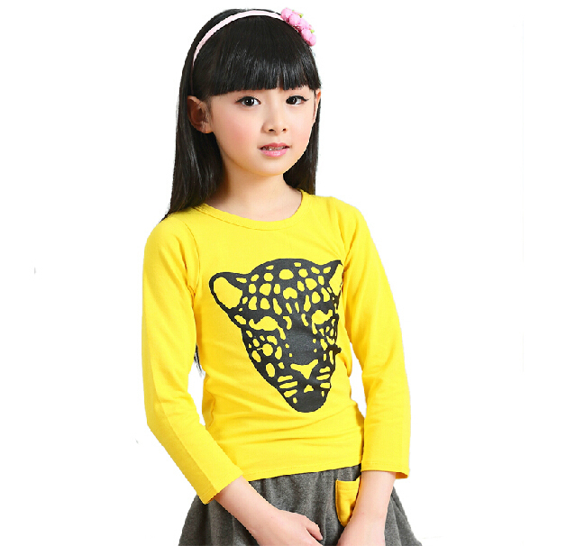 New Arrival 2016 Children's Clothing Spring and Autumn Shirt Female Child Long-Sleeve Cotton T-Shirt Basic Shirts for Baby Girls