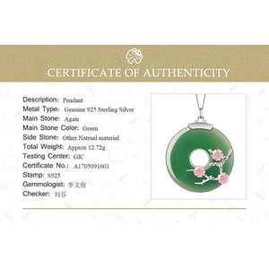 Image 5 - Lotus Fun Real 925 Sterling Silver Handmade Fine Jewelry Shell Plum Flower Natural Gemstones Pendant without Necklace for Women