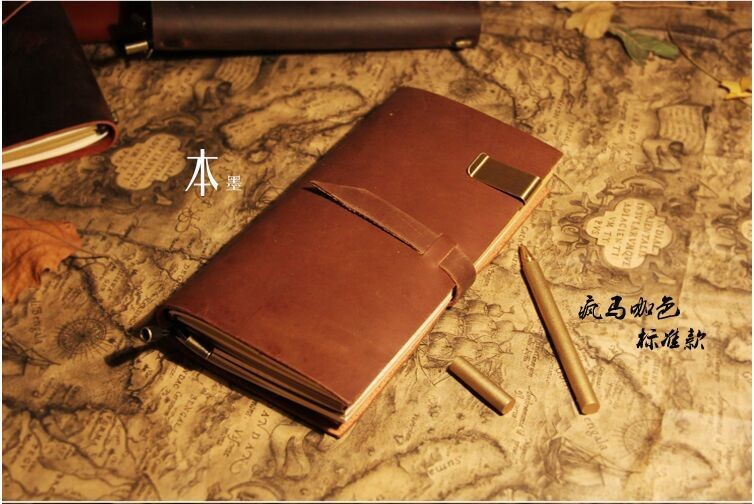 A5 con bot/ón redondo para cuaderno de anillas color Oro negro agenda Filofax para recarga de papel grueso de primera calidad cada semana Rubywoos Cuaderno de piel regenerada para viajes