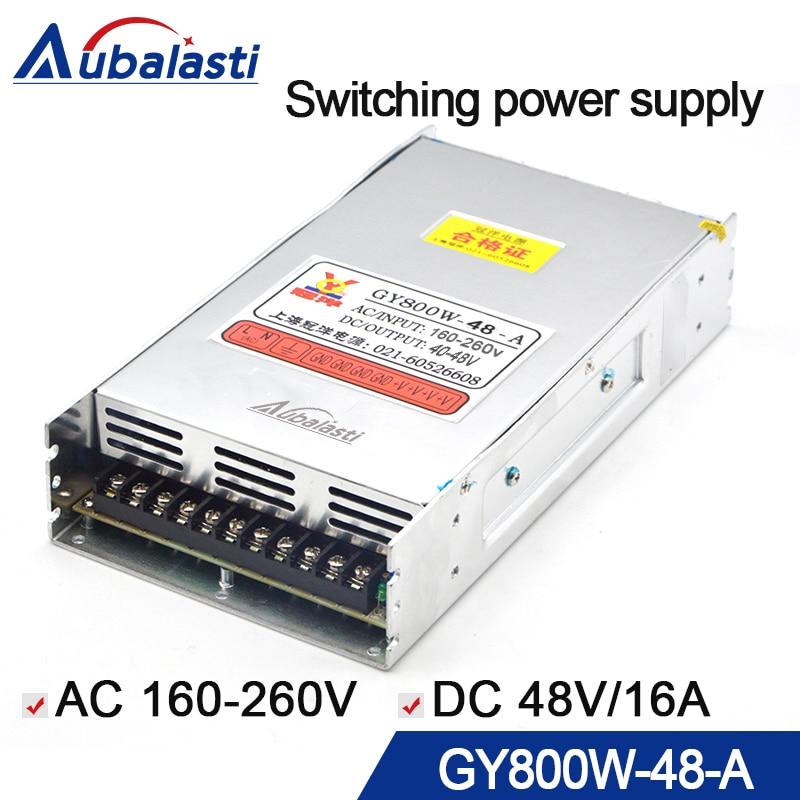 CNC routeur interrupteur d'alimentation GY800W-48-A alimentation sortie DC 48V16A