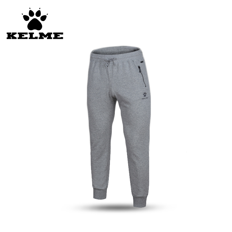 KELME 2016 Cotton Polyester Pants Solid Color Sweatpants Hip Hop Slim Tracksuit Trousers Jogging Zipper Pocket Pants 69