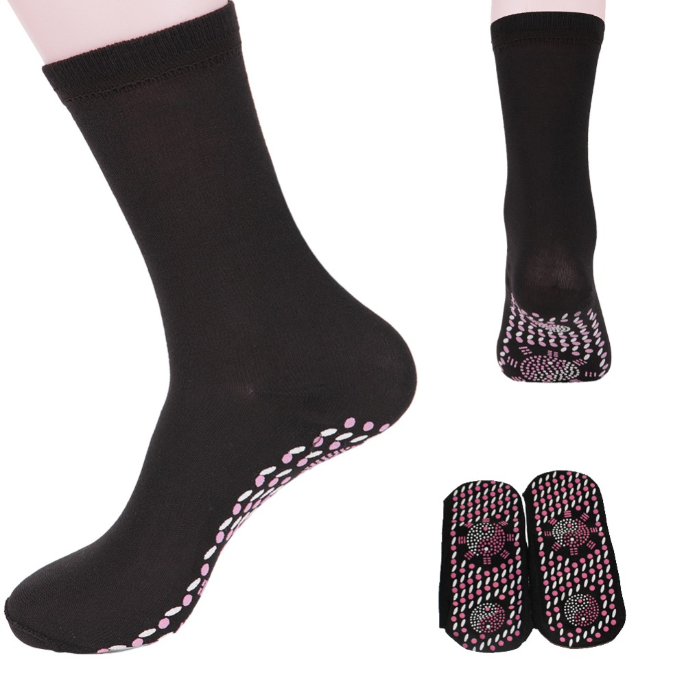 Women Men Tourmaline Self Heating   Socks   4 Colours Help Warm Cold Feet Comfort Hot!-W7 10