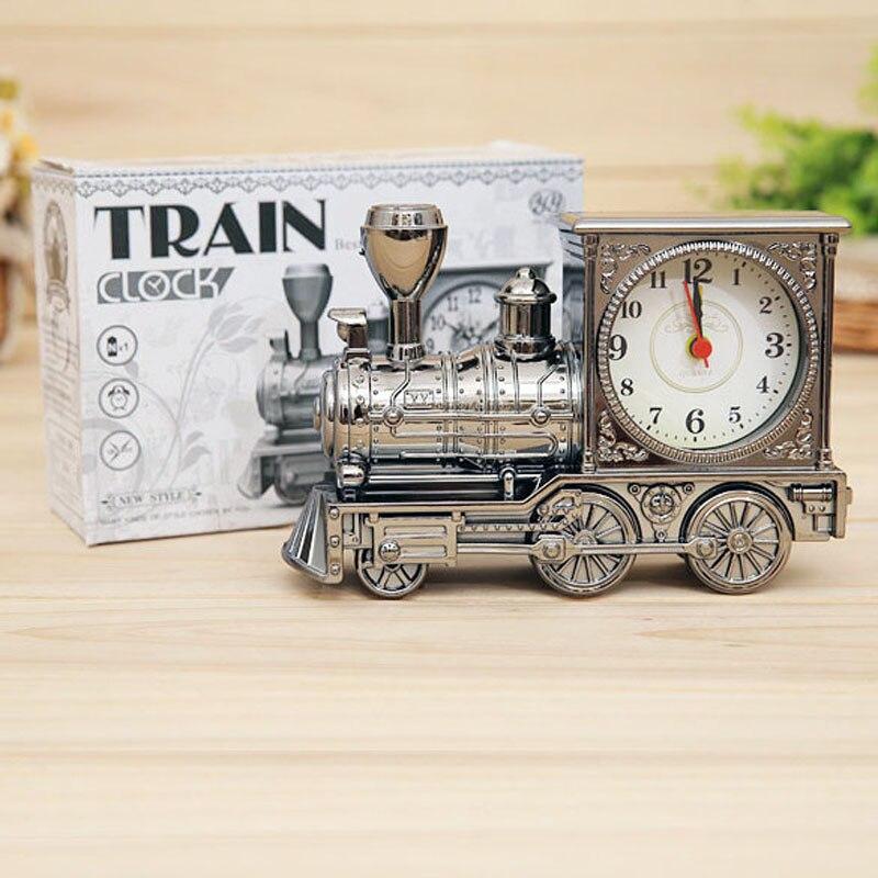 мужчины ретро поезд офисный стол будильник