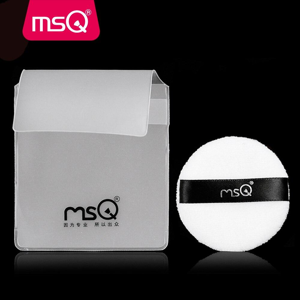 c60867a749f61 Whloesale 50 قطعة الوحدة MSQ عالية الجودة البسيطة الأبيض القطن جولة ماكياج  التجميل نفخة ل الأساس المخفي مسحوق المكياج