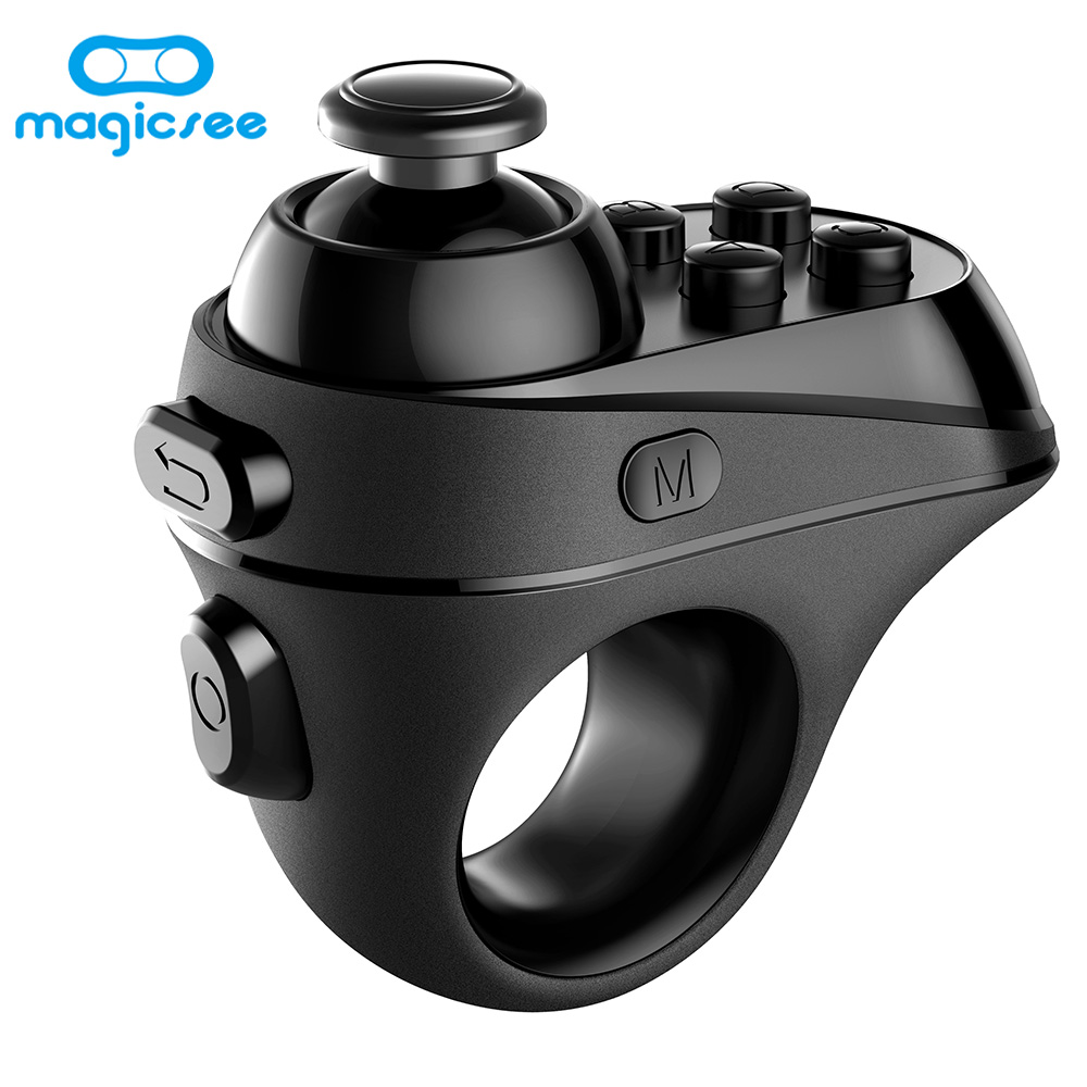 Magicsee R1 Mini Ring Bluetooth 4.0 Rechargeable Wireless VR Remote Game Controllers Joystick Gamepad for iphones Android Phones xunbeifang 2pcs for nes30 wireless bluetooth game controller gamepad bluetooth arcade game stick joystick for ios for android
