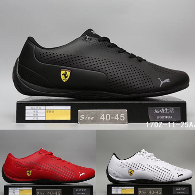 2949a7513a45 2019 New Arrival Puma Men s Shoes Lightweight Sports Shoes Ferra-ri Drift  Cat 5 Racing Shoes Leather Low-top Badminton Shoes