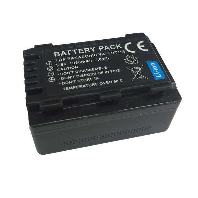 VW-VBT190 VW VBT190 VW-VBT380 lithium battery For Panasonic HC-V110 HC-V130 HC-V160 HC-V180 HC-V201 HC-V210 HC-V230 HC-V250 3