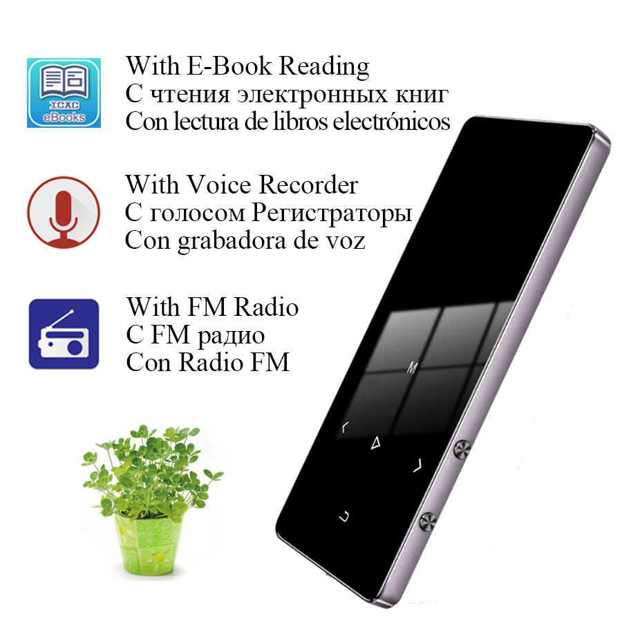 Odtwarzacz MP4 z odtwarzaczem Bluetooth odtwarzacz MP3 MP4 głośnik Slim ekran Hifi klawisze dotykowe przenośne metalowe radio fm 16GB 32GB