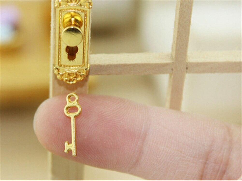 Vintage Karges Furniture Brass Skeleton Decorative Key Hole Cover Plate NOS Nice