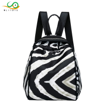 MLITDIS Zebra Pattern Women Backpacks Multifunction Shoulder Bag Small Backpack School Bags for Teenager Girl Bags Causal Stripe