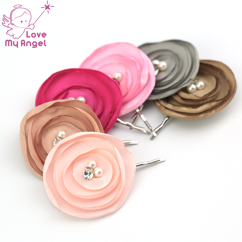 48pcslot mini satin silk flower hair clips fabric poppy flower 48pcslot mini satin silk flower hair clips fabric poppy flower bobby pins wedding bridal floral hair accessories 12 color in hair accessories from womens mightylinksfo