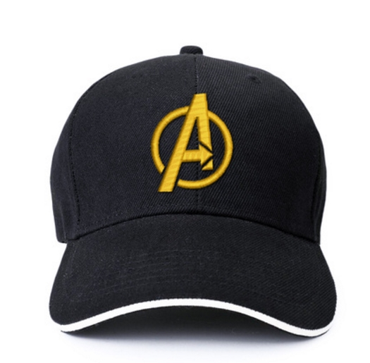 Amiable Avengers 4 Endgame Iron Man Gold Embroidered Logo Hat Baseball Cap For Sale