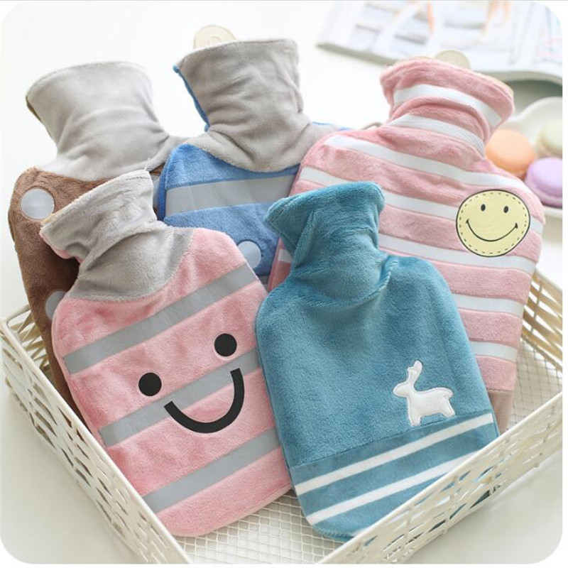 New Winter Lovely Hot Water Bottle With Detachable Soft Cute Animal Hand Warm Water Filling Hot Water Bag Home Acessorie   JJ001 warm water bag hot water bottle warm hand po warm bao water filling small mini cute thick pvc explosion proof