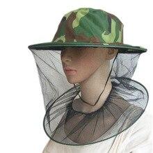 Москитная зеленая камуфляжная москитная сетка, защита для лица, шляпа, Садовые принадлежности
