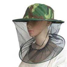 Mosquito Green Camouflage Insect Bug Mesh Head Net Face Protector Hat Outdoor Garden Supplies
