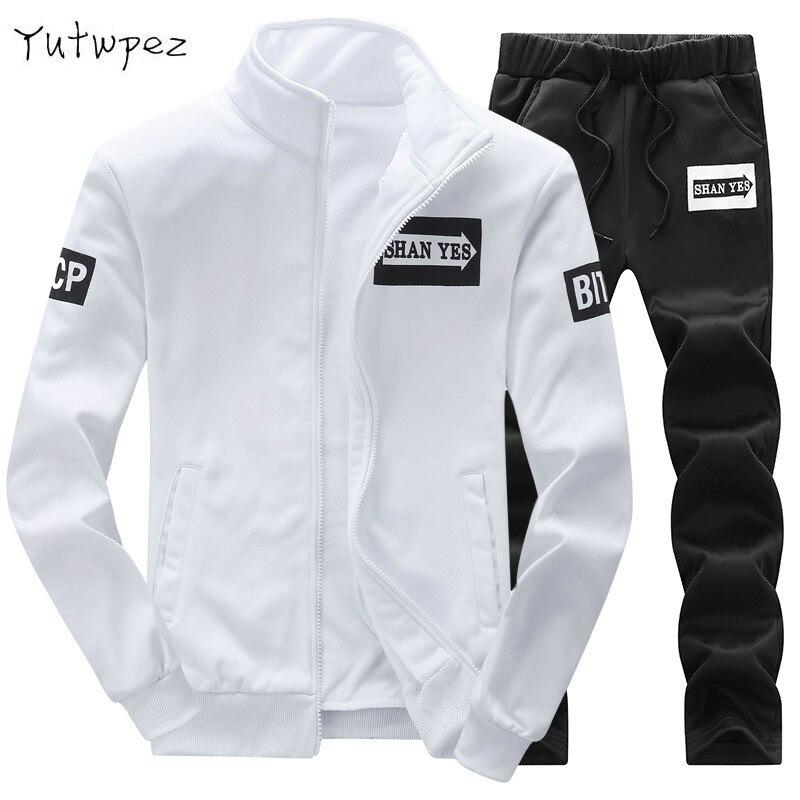 Tracksuit Men 2019 New Brand Clothing Sweat Homme Slim Fleece Men's Sportswear Hoodie Men Sweatshirt Zipper Moletons Masculino