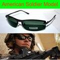 Luxo eua soldado modelo TAC de motorista reforçada polarizada golfe polaroid polarizada UV 400 homens óculos de sol com caixa de espuma de n