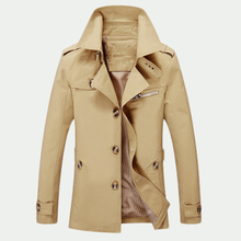 Turn Down Collar Windbreaker Men s Jackets Fashion Overcoat Casual Plus Size Coat New Autumn Outerwear