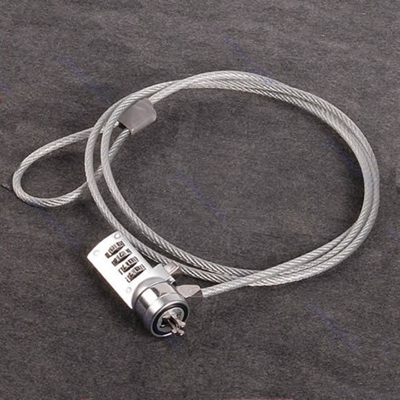4 Digit Security Password Computer Lock Anti-theft Chain For Notebook PC Laptop