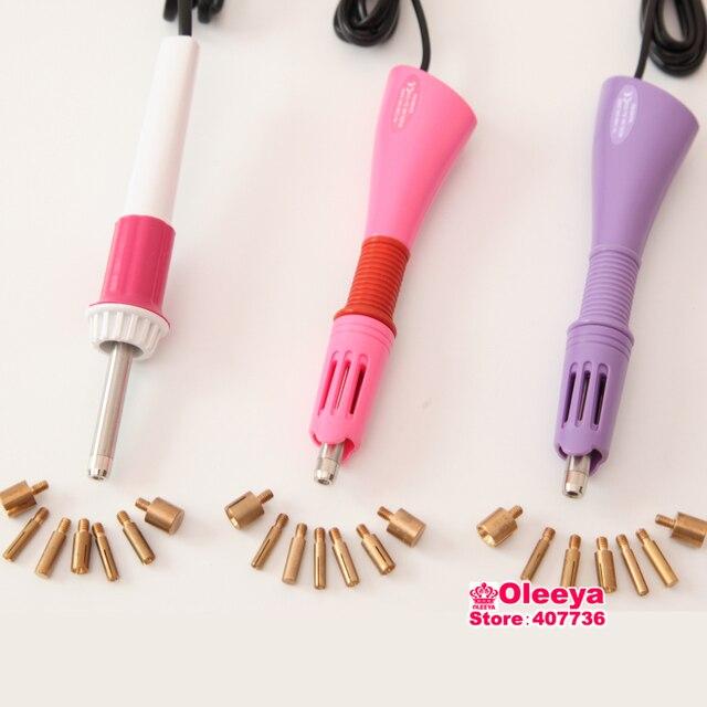 Melhor! Aquecido rápido! rosa/Roxo Branco/Ferro-on Hot Fix Strass Aplicador Varinha 1 pçs/lote Calor-fix Tool (nenhum strass!) Y2852