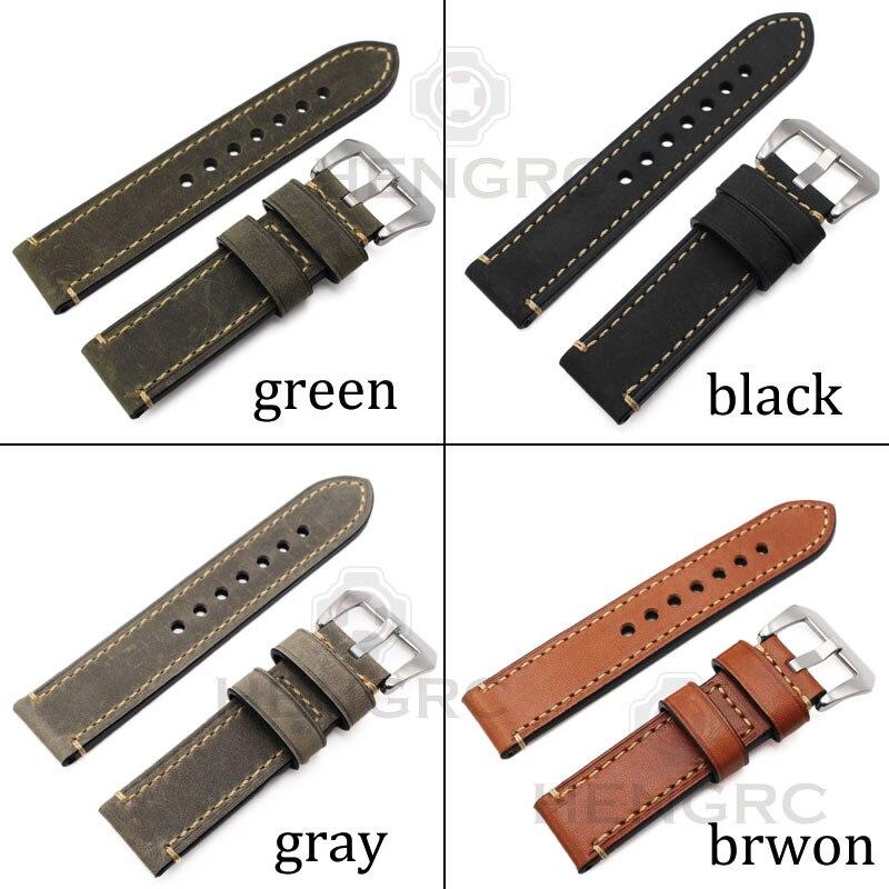 Pulsera de correa de reloj de cuero genuino 24 mm 22 mm 20 mm Correa - Accesorios para relojes - foto 2