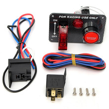 Gran 12 v Racing Car Interruptor De Palanca De Encendido de Arranque Del Motor Pulsador Panel LED Toggle