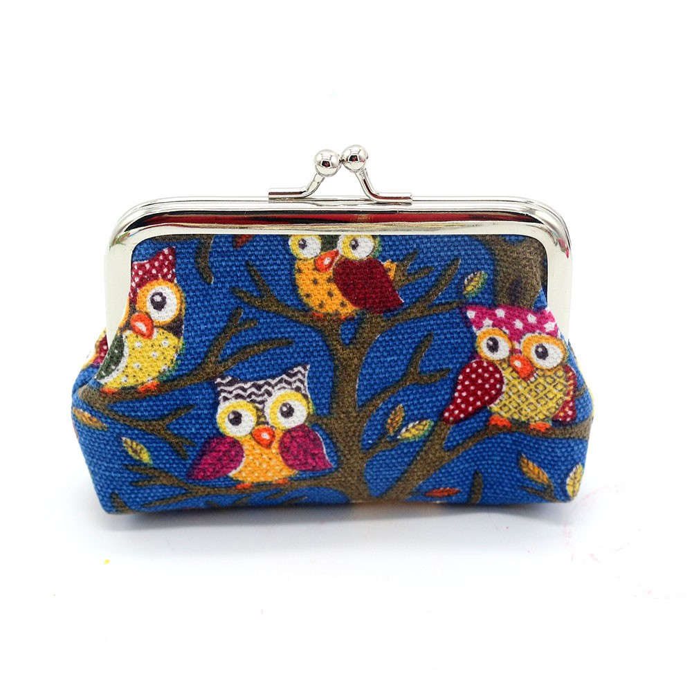 New Design Women Lovely Owl Coin Purse Vintage Style Lady Small Wallet Hasp Purses Girl Money Change Clutch Bag 2 Size fashion women coin purses dots design mini girl wallet triple zipper clutch bag card case small lady bags phone pouch purse new