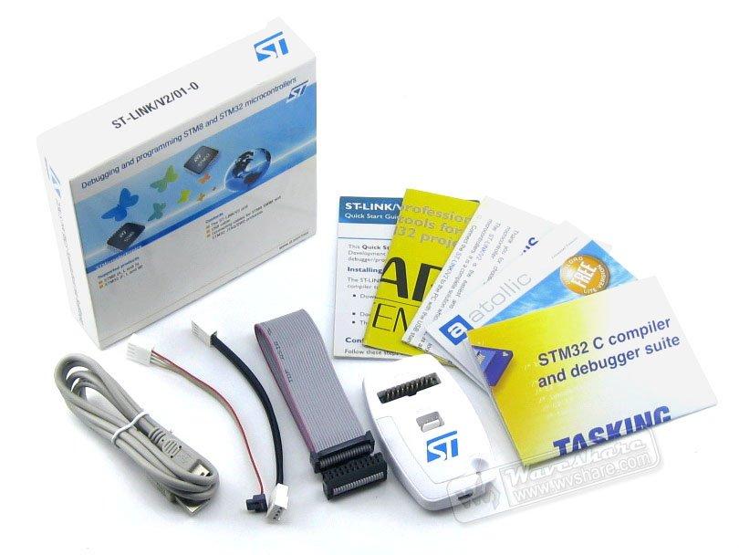 Original ST-Link V2 Stlink St Link V2 Stlink STM32 STM8 MCU USB JTAG In-circuit Debugger/Programmer/Emulator Freeshipping st link v2 stm8 stm32 emulator programmer stlink hex bin downloader debugger