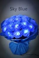 Free Shipping 3V DC Adaptor Type LED Rose Flower Bundle In Nice Gift Package Wedding Decoration