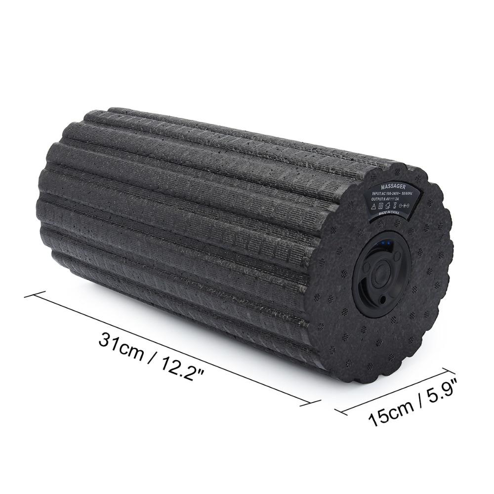 Fitness Yoga colonne électrique Vibration Massage mousse rouleau Pilates bloc réglable masseur soulager la Fatigue musculaire - 3