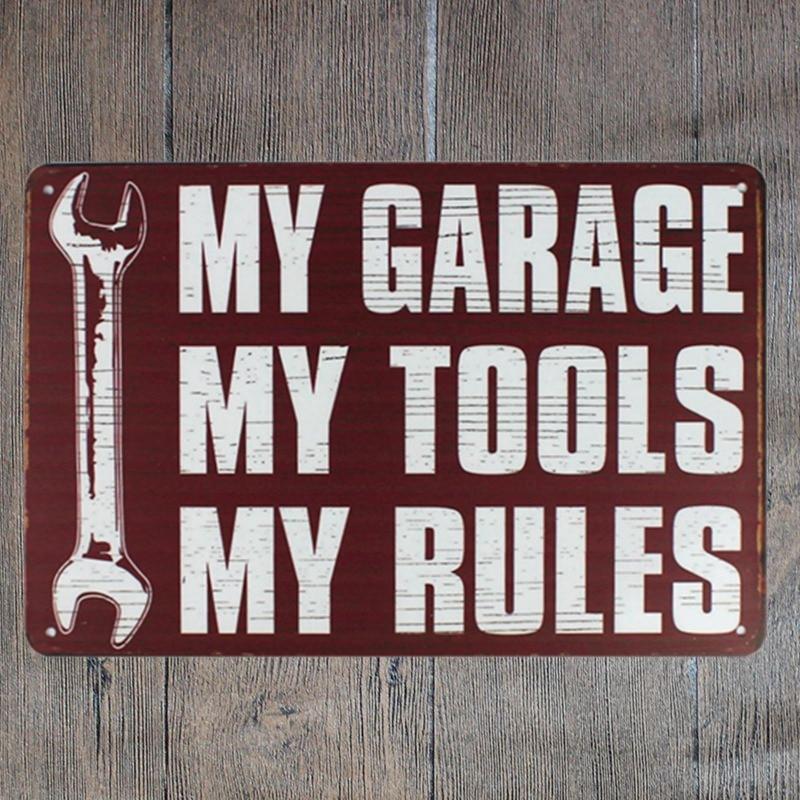 30X20 CM My Garage Mio Strumenti Retro Vintage Home Decor Tin segno ...