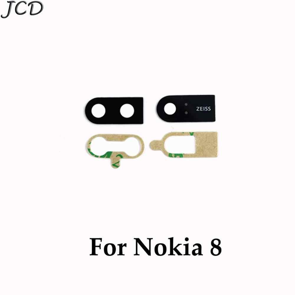 JCD עבור Nokia Lumia 3 5 6 8X5X6X7 7 בתוספת 6.1 950 950XL1520 אחורי מצלמה אחורית זכוכית עדשת כיסוי עם Ahesive מדבקת החלפה