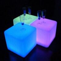 40x40x40 см светодиодный светящийся куб световой мебель дистанционного Управление 16 Цвет светодиодный кубический стула, лампа для Крытый ночн