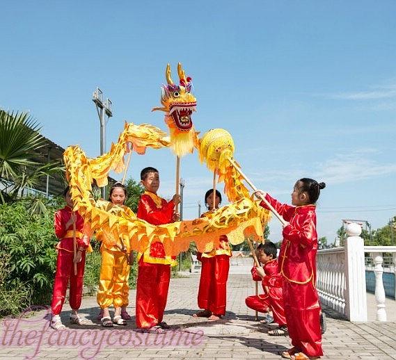 դեղին ոսկե երեխաների չափս ՉԻՆԱԿԱՆ - Կարնավալային հագուստները - Լուսանկար 1