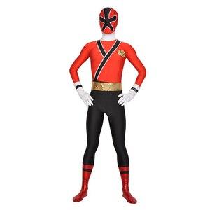 Image 5 - เด็กPower Samurai Sentai Shinkengerเครื่องแต่งกายLycra Samurai Rangersคอสเพลย์ฮาโลวีนสีแดง/สีชมพู/สีฟ้า/สีเขียว/สีเหลืองrangerชุด
